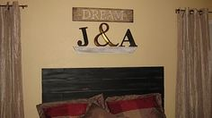 DIY headboard! Rustic, traditional, and country all in one!