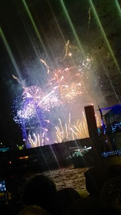 New Years Eve on the bank of the Thames River, London. ONE MILLION people? Everyone returned safely!