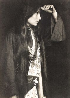 Zitkala-Sa by Gertrude Käsebier, 1898. Zitkala-Sa was a Yankton Sioux woman. She was well educated and went on to become an accomplished author, musician and composer - she wrote the first American Indian opera, The Sun Opera, in 1913. She went on to work for the reform of Indian policies in the United States