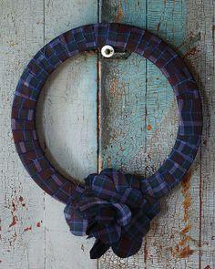 DIY Fabric Wreath #12DaysOfHGTVHOME