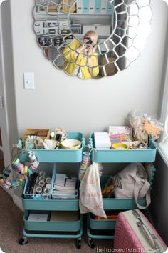 My Favorite Things - The Must Haves - How I Roll When I Need More Storage - RÅSKOG Carts from Ikea - #favoritethings #officestorage #IKEA #raskogcart mirror, roll, the office, the craft, new crafts, kid crafts, craft storage, craft rooms