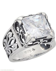 Show off your chic style with this multi-faceted #CubicZirconia and #SterlingSilver #Ring. #Silpada #Sparkle