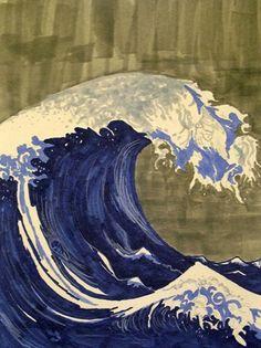 Hiroshige - big blue wave