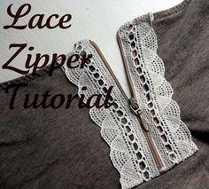 lace zipper to update an old shirt