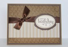 Just Julie B's Stampin' Space: Mocha Morning Makes it Masculine!