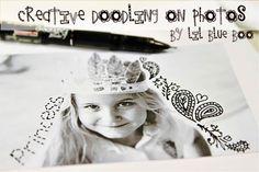 Creative Doodling on Photos via lilblueboo.com #artjournaling #scrapbooking #theliljournalproject