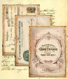vintage french ephemera scrapbooking paper