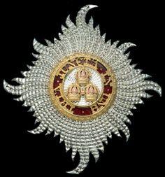 Order of the Bath, G.C.B. (Civil) Knight Grand Cross breast star.