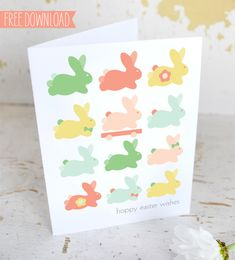 free printable Easter card by Sweet Muffin Suite