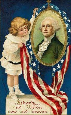 Vintage postcard~George Washington