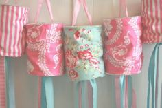 Fabric lanterns for Chinese New Year