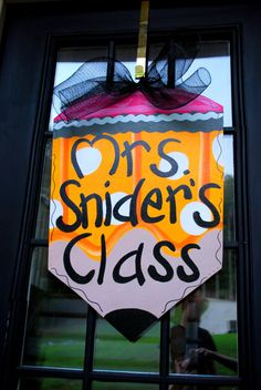 Classroom Door Hanger Back to School Door Decor by LooLeighsCharm, $42.00