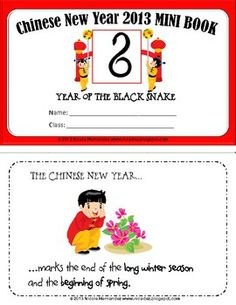 Chinese New Year Mini Book For Kids