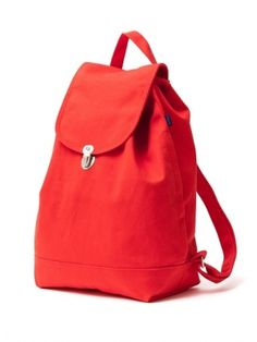 Baggu Poppy Recycled Cotton Canvas Eco-Backpack - Made of recycled cotton canvas #gogreen #ecofriendly