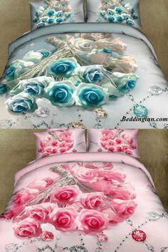 #rose #diamond #3d #beddingset Buy link-->http://goo.gl/iHqU4o Live a better life,start with @beddinginn