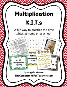 Multiplication KITs: math fact practice games for centers or homework!