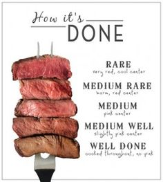 """Great article on how to cook a steak properly!  I had no idea that the """"stripes"""" were bad!"""
