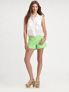 7 For All Mankind - Carlie Cut-Off Denim Shorts - Saks.com