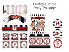Jake and the Neverland Pirates Birthday Party Pack.  via Etsy.