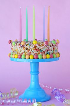 Fruity Pebbles Krispie Treats (Cake)