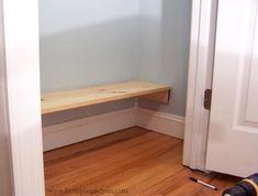 easy diy closet shelf