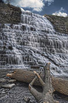 Albany falls in Hamilton, Ontario