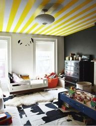 striped ceiling