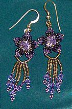 Posy Earrings Pattern by Charlotte Holley - Beaded Legends by Chalaedra at Bead-Patterns.com