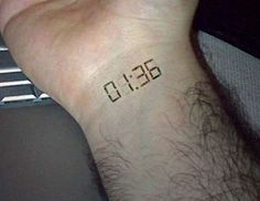 electronic time tattoo