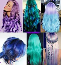 Colorful Hair hairstyle (Find us on: www.facebook.com/GreatLengthsPoland)
