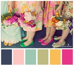 mix of soft and bright colors
