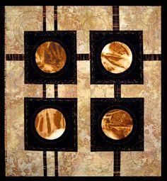 Mars Phases quilt by Niki Valentine Vick | Balsam Quilts.  Rust dyed.