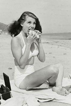 beaches, sandwiches, rita hayworth, monkeys, real women