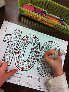 100th day coloring