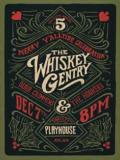 Whiskey Gentry #lettering #type #typography #design