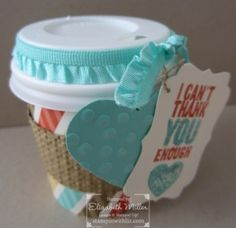 STampin Up Chalk Talk mini Coffee Cups