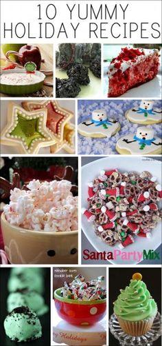 10 yummy holiday recipes Ideas DIY Navidad manualidades decoracion. Christmas holiday ideas decoration lovely. @Reyna Starkweather