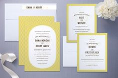 Love these invitations. I'm leaning towards yellow as a color. Although I have no idea how to incorporate it!