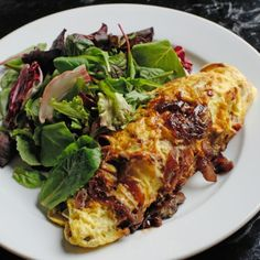 Yummy egg, bacon and potato omelet you won't be able to turn down