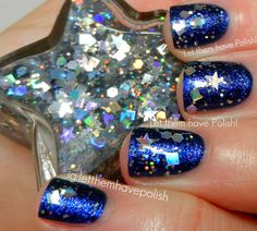 (Elmers sparkle glue + nail polish possibly? Or just buy it from Jen!} Etsy Mania!! JENsations Swatches and Sammi