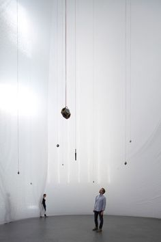 View of the Sum of Days installation by Carlito Carvalhosa in the central atrium of the MoMA.
