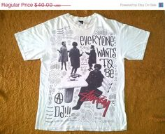 ON SALE Vintage STUSSY Everyone Wants To Be Dj by Captainstore11, $30.00
