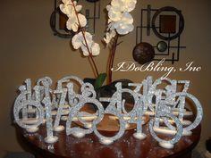 wedding bling | Bling Crystal Rhinestone Wedding Reception Birthday Party Table ...