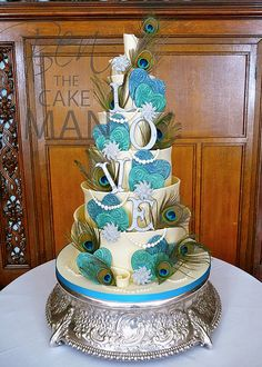 Love chocolate peacock wedding cake at @Rachel Veasey