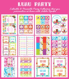 LUAU Invitation & Printable Birthday Party Collection