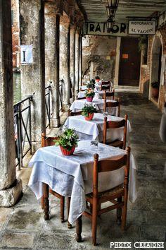 The restaurant in Venice, Italy *