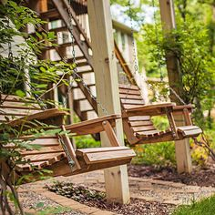 Swing Low #deck #porchswing