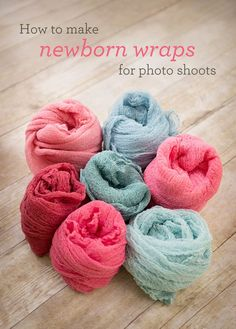 How to make newborn cheesecloth wraps for photo shoots (they're totally affordable & SO EASY!) | Cardstore Blog Photo Shoot, Cheesecloth Wrap