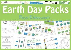 Free Printables Earth Day Packs- Toddlers- 2nd grade