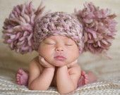 newborn pic, crochet baby hats, newborn photos, newborn hats, baby girls, beanie hats, pom pom, photography props, winter hats